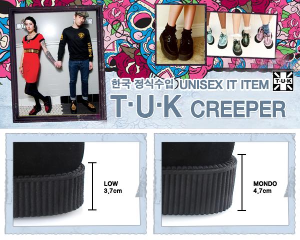 티유케이(T.U.K) [T.U.K] T2006 블랙 앤 화이트 매리제인플랫/미국수입